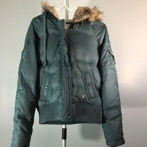 American Eagle Blue/Green Puffer Jacket
